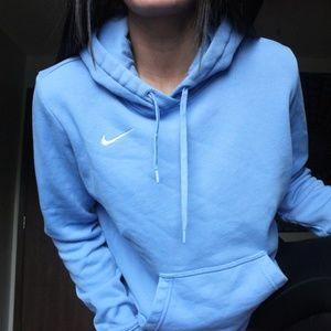 blue nike fleece hoodie